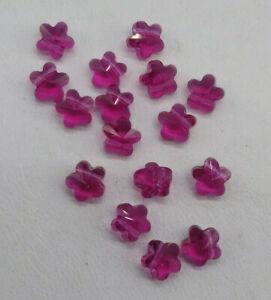 12pc Swarovski Crystal Fuchsia 6mm Flower 5744 Beads; Purple Pink
