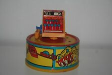 Vintage Wind Up Plastic Bank Cash Register with Mouse Not Working