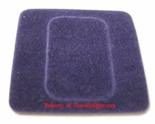5 Air-tite Coin Capsule Display Card Insert 1oz Silver BAR Holder BLUE + Case