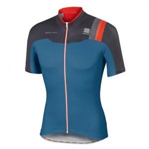 Sportful BodyFit Pro Team Full Zip Cycling Jersey Dark Blue Size S, M