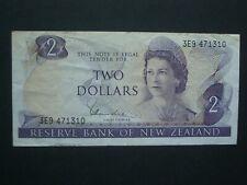 **Decent ** $2 Crisp 'NVF'  Hardie New Zealand 1981 Banknote***