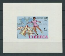 LIBERIA EPREUVE DE LUXE 1976  OLYMPIA WINTER OLYMPICS LUXUSBLOCK c2051