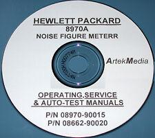 HP Hewlett Packard 8970A Noise Figure Meter Operating & Service Manuals (2 vol)