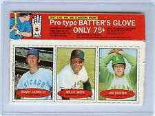 "1971 BAZOOKA RANDY HUNDLEY, WILLIE MAYS, & JIM HUNTER ""UN-CUT PANEL"" WITH BOX"