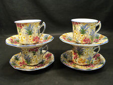 "SET/4 ROYAL WINTON ""MARQUERITE"" CHINTZ CUPS & SAUCERS"