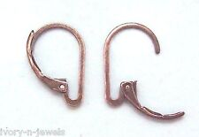 *New* INTERCHANGEABLE Leverback Earring Wires Antiqued Copper - ONE PAIR