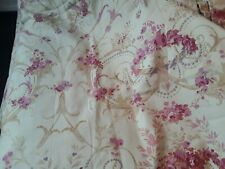 A Good Pair of Laura Ashley Malmaison  Raspberry Pattern Lined Curtains Drapes