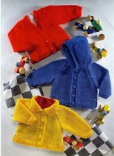 BABY knitting pattern    chunky   cardigan size 18/  28  INCHES
