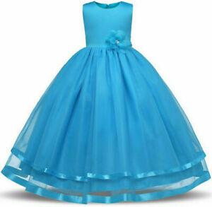 Girl Bridesmaid Dress Baby Flower Kid Party Rose  Wedding Dresses Princess GIRL!