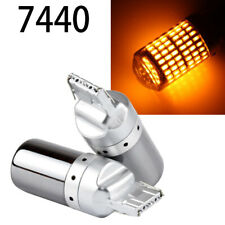 Front Turn Signal Light T20 7440 7441 992 W21W Chrome Silver Amber Bulb W1 JAE