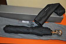 Authentic New Men's Alexander McQueen Silver Skull Handle Umbrellas