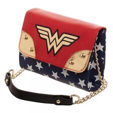 DC Comics WONDER WOMAN Crossbody Purse Red White Blue & Gold