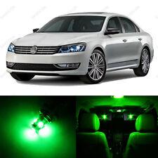 13 x Green LED Interior Light Package For 2012 - 2013 VW Passat B7