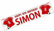PERSONALISED BANNERS NAME AGE PHOTO BIRTHDAY FOOTBALL 1st 2nd 3rd 4th 5th RED K1