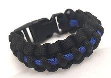 Thin Blue Line, Paracord Bracelet, Police, Kids, Child Bracelet.