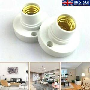 E14 Light Bulb Screw Lamp Fixing Base Holder Screw Socket UK