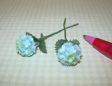 Miniature Loose Stems, BLUE Hydrangea (2), LARGE: DOLLHOUSE Flowers 1/12