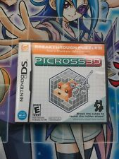 Picross 3D Nintendo DS (NDS) Complete w/ Case and Instruction Manual - Tested