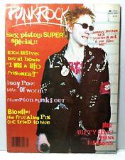 1978 Punk Rock Magazine Sex Pistols Iggy Pop Patti Smith Blondie David Bowie Vtg
