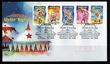 2007 Australia Circus Under The Big Top Strip Of 5 FDC, Mint Condition
