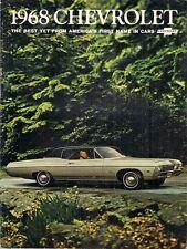 Chevrolet Biscayne Bel Air Impala Caprice 1968 USA Market Sales Brochure