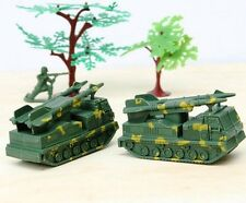 2 pcs Military Rocket Missile Armored Vehicles Toy Soldier Army Men Accessories