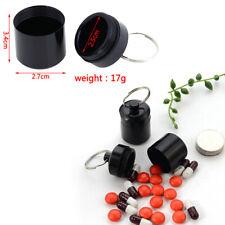 1 Pcs Mini Waterproof Aluminum Alloy Pill Box Container Keychain Medicine Box_WR