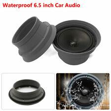 "Grey 6.5"" Car Door Audio Speaker Ring Cover Foldable Trim Washer Waterproof"