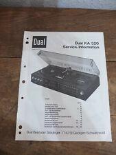 Dual KA 320 Service Manual TOP !!! Reinschauen !!!