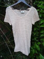 'IMAGINATION' SHEER PALE PEACH SHORT SLV TOP/TUNIC/BLOUSE/SHORT DRESS-SIZE 10/12