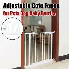 Adjustable Safety Gate Fence for Pets Dog Baby Barrier Walk Thru Swinging Door