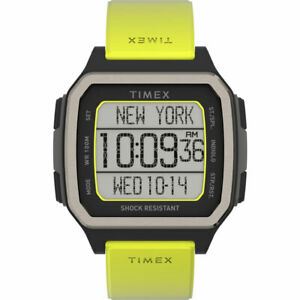 Timex Men's Watch Command Urban Digital Grey Dial Green Rubber Strap TW5M28900