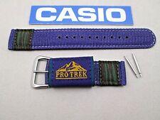 Genuine Casio Pro Trek APX-100 purple weaved nylon watch band strap NOS