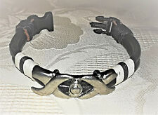 Leder-Armband mit Metall-Applikationen - Mittelalter-Stil, LARP, Gothic, Schwarz