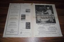 Reklameblatt -- WALTER BICKEL: die GEMEINSCHAFTSKÜCHE // vom 27.11.1953
