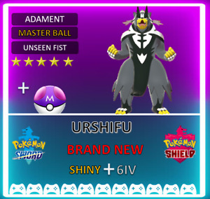 Pokemon Sword & Shield URSHIFU *RAPID STRIKE* 6IV  **FAST DELIVERY**