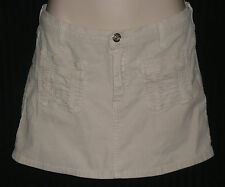 XXI Juniors White Corduroy Mini Skirt Size S W:28 H:34 L:12 1/2