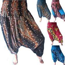 Women Genie Aladdin Gypsy Hippie Festival Baggy Harem Pants Trousers Alibaba