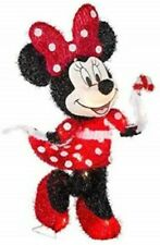 Disney Minnie Mouse Gemmy Christmas Lighted Tinsel Yard Sculpture 1.96' Tall New