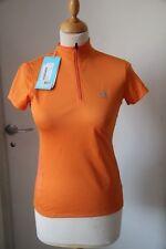 Original Tee shirt femme ODLO col zippé orange taille XS   neuf