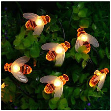 20 LED Solar Honey Bee Fairy String Lights Outdoor Garden Wedding Party DIY
