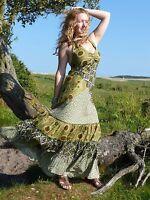 Womens Halter Neck Maxi Dress Ethnic Boho Hippie Festival Free Sizes 8-12, 12-16
