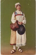 TICINO SWITZERLAND Traditional Costume LADY Vintage Colour PC c1910