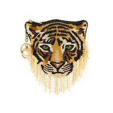 Mary Frances Rajah Lion Tiger Cat Gold Jasmine Key Fob Disney Aladdin Handbag NW