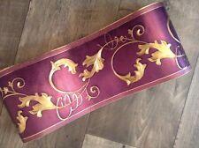 wunderschöne Barock Bordüre Dunkel Lila   Gold .5m lang 15,cm breit