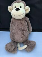 "Jellycat Brown Beige 12"" Monkey jelly2656 Soft Toy Comforter Bashful"