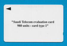 GPT - SAUDI ARABIA - EVALUATION CARD type 1 - 980 units
