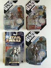 Star Wars LOT OF FOUR ACTION FIGURES (McQuarrie Stormtrooper Animated Boba Fett)