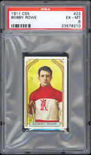 1911-12 C55 Imperial Tobacco #23 Bobby Rowe PSA 6 EX-MT