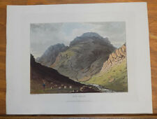 1821 Print, Aquatint Tour of English Lakes///STY HEAD
